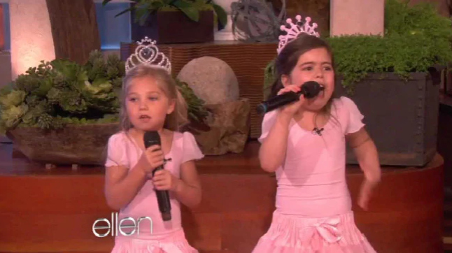 Sophia Grace Brownlee and Rosie McClelland on The Ellen Show