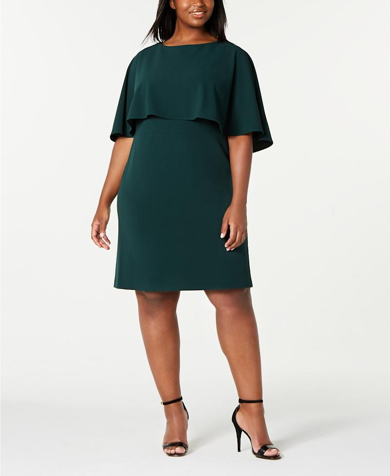 Calvin Klein Plus Size Capelet Sheath Dress. (Photo: Macy's)