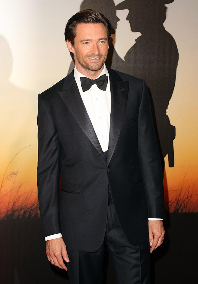 """<a href=""""http://movies.yahoo.com/movie/contributor/1800354816"""">Hugh Jackman</a> at the MoMa Film benefit gala honoring Baz Luhrmann in New York - 11/10/2008"""