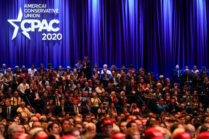 FILE PHOTO: U.S. Vice President Pence speaks at CPAC in Oxon Hill, Maryland