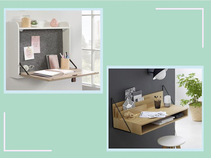 A folding desk will help separate work from downtime, as they can easily merge into one while working remotely (The Independent)