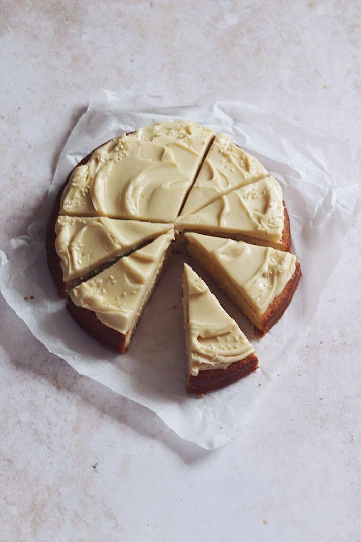 "<p>A simple cake will shine for Mother's Day, especially when it's covered in a rich white chocolate tahini ganache.</p><p><strong>Get the recipe at <a href=""https://www.carrotandcrumb.com/blog/almond-cake-white-chocolate-tahini-ganache"" rel=""nofollow noopener"" target=""_blank"" data-ylk=""slk:Carrot and Crumb"" class=""link rapid-noclick-resp"">Carrot and Crumb</a>.</strong></p><p><strong><a class=""link rapid-noclick-resp"" href=""https://go.redirectingat.com?id=74968X1596630&url=https%3A%2F%2Fwww.walmart.com%2Fsearch%2F%3Fquery%3Dcake%2Bpans&sref=https%3A%2F%2Fwww.thepioneerwoman.com%2Ffood-cooking%2Fmeals-menus%2Fg36066375%2Fmothers-day-cakes%2F"" rel=""nofollow noopener"" target=""_blank"" data-ylk=""slk:SHOP CAKE PANS"">SHOP CAKE PANS</a><br></strong></p>"