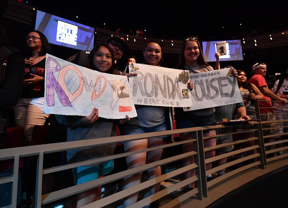Ronda Rousey blazed a trail for female UFC fighters and brought an entire new fan base onboard. (Getty)