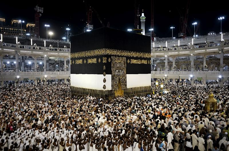 Muslim pilgrims circle Islam's holiest shrine, the Kaaba, at the Grand Mosque in the Saudi holy city of Mecca, on September 20, 2015
