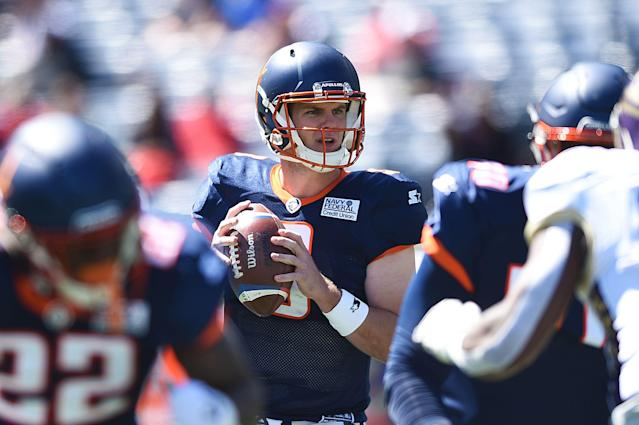 Quarterback Garrett Gilbert will reportedly sign with the Cleveland Browns after a successful stint with the AAF's Orlando Apollos. (Getty Images)