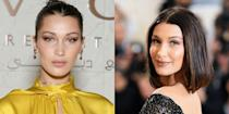 """<p>Even off the runway, Bella Hadid doesn't usually treat her fans to big smiles. Why? """"I feel uncomfortable, sometimes, smiling in front of the camera. It actually took me until probably this year to really understand my face,"""" she told <em><a href=""""https://www.theguardian.com/fashion/2017/aug/09/bella-hadid-interview"""" rel=""""nofollow noopener"""" target=""""_blank"""" data-ylk=""""slk:The Guardian"""" class=""""link rapid-noclick-resp"""">The Guardian</a>.</em></p>"""