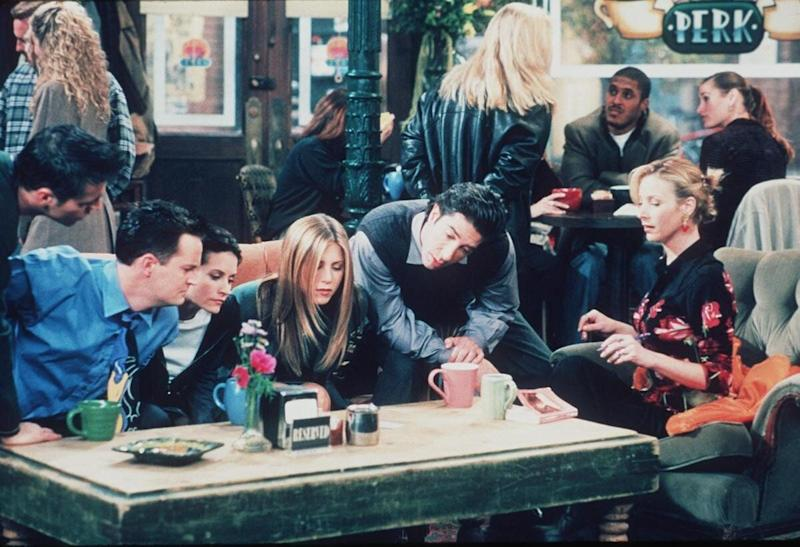 Matt Le Blanc, Matthew Perry, Courteney Cox, Jennifer Aniston, David Schwimmer, And Lisa Kudrow Star In The Latest Season Of 'Friends.' (Photo By Getty Images)