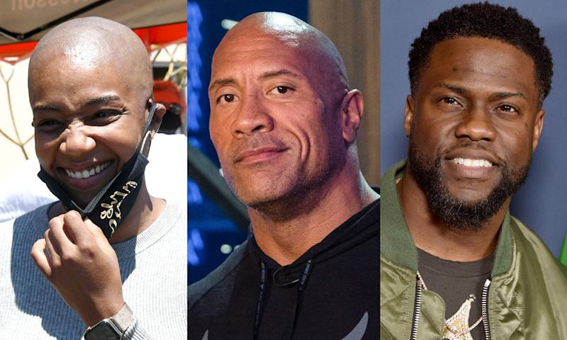 """Tiffany Haddish, Dwayne """"The Rock"""" Johnson and Kevin Hart have been directly affected by COVID-19. (Photo: Getty Images)"""