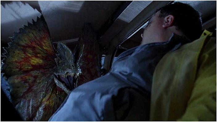 <br>Wayne Knight played Dennis Nedry, who met a sticky end after coming across a Dilophosaurus.