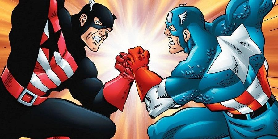 John Walker becomes the new Captain America in 1986, which doesn't make the old Cap Steve Rogers very happy.