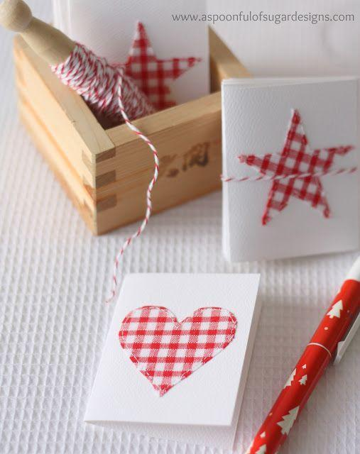 """<p>Though these festive appliqués are made of fabric, there's no need for sewing—some fusible webbing will do just the trick. </p><p><em>Get the tutorial at <a href=""""http://aspoonfulofsugardesigns.com/2012/10/stitched-gift-cards/"""" rel=""""nofollow noopener"""" target=""""_blank"""" data-ylk=""""slk:A Spoonful of Sugar Designs"""" class=""""link rapid-noclick-resp"""">A Spoonful of Sugar Designs</a>.</em> </p><p><a class=""""link rapid-noclick-resp"""" href=""""https://www.amazon.com/Bulk-Buy-Company-3-Pack-Fusible/dp/B0033PF6QC/?tag=syn-yahoo-20&ascsubtag=%5Bartid%7C10072.g.34351112%5Bsrc%7Cyahoo-us"""" rel=""""nofollow noopener"""" target=""""_blank"""" data-ylk=""""slk:SHOP FUSIBLE WEB"""">SHOP FUSIBLE WEB</a></p>"""