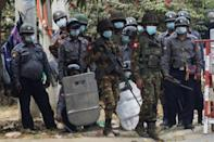 Medical rescue workers said the troops in Myanmar's second-largest city Mandalay used live rounds, rubber bullets and tear gas against a crowd