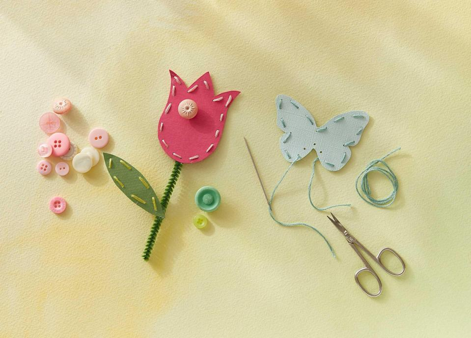 """<p>Any mom would rather receive something meaningful and from the heart over an expensive present. That's why these east Mother's Day crafts will make for the best <a href=""""https://www.countryliving.com/shopping/gifts/g1441/mothers-day-gift-guide/"""" rel=""""nofollow noopener"""" target=""""_blank"""" data-ylk=""""slk:Mother's Day gifts"""" class=""""link rapid-noclick-resp"""">Mother's Day gifts</a>—because they're simple for even the littlest ones to put together. These crafts double as gifts and crafty creations to decorate your home with. From homemade picture frames to <a href=""""https://www.countryliving.com/diy-crafts/g30930268/how-to-make-paper-flowers/"""" rel=""""nofollow noopener"""" target=""""_blank"""" data-ylk=""""slk:DIY paper flowers"""" class=""""link rapid-noclick-resp"""">DIY paper flowers</a>, these beautiful ideas will look stunning in any room.</p><p>Some of these crafts will prove useful around your home or backyard, including the milk carton bird feeder and personalized photo coasters. There are also great ideas specifically for Mom, like the handprint apron, DIY coloring page bracelets, and even a crown for her to wear during all your <a href=""""https://www.countryliving.com/life/g4228/mothers-day-activities/"""" rel=""""nofollow noopener"""" target=""""_blank"""" data-ylk=""""slk:Mother's Day activities"""" class=""""link rapid-noclick-resp"""">Mother's Day activities</a>. Your kids will love getting creative and making something that they know their mom will cherish. While they're busy at work with these crafts, you can tackle some <a href=""""https://www.countryliving.com/diy-crafts/how-to/g771/mothers-day-crafts-0509/"""" rel=""""nofollow noopener"""" target=""""_blank"""" data-ylk=""""slk:DIY Mother's Day crafts"""" class=""""link rapid-noclick-resp"""">DIY Mother's Day crafts</a> of your own, whether for your own parent or just to use around the house. Even if not tied to any particular holiday, these Mother's Day crafts will work perfectly for some fun spring crafts on a sunny afternoon.</p>"""