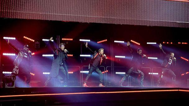 PHOTO: A.J. McLean, Nick Carter, Brian Littrell, Kevin Richardson and Howie Dorough from the Backstreet Boys band perform on stage at Altice Arena, May 11, 2019, in Lisbon, Portugal. (Pedro Gomes/Redferns/Getty Images, FILE)