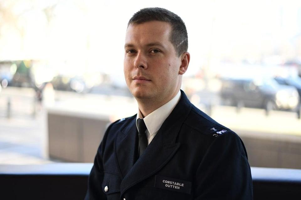 Pc Stuart Outten, who has received a national police bravery award (Kirsty O'Connor/PA) (PA Archive)