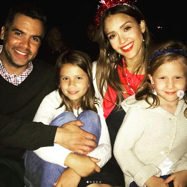 Jessica Alba's family including daughters Honor and Haven and husband Cash Warren