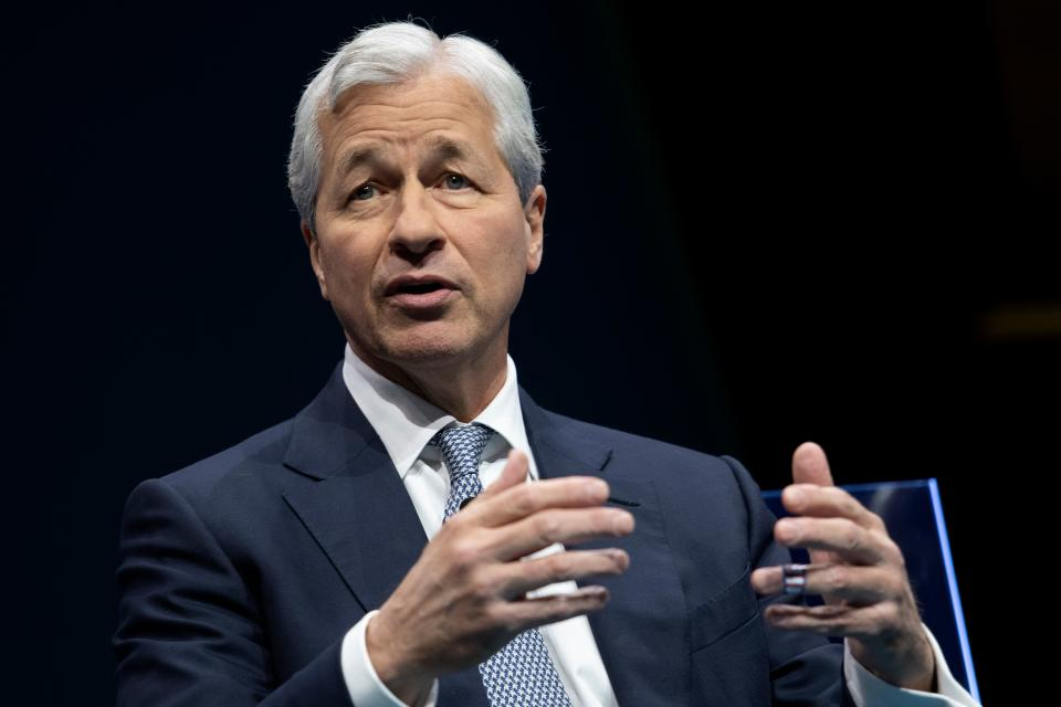 JPMorgan Chase & Co. CEO Jamie Dimon speaks during the Business Roundtable CEO Innovation Summit in Washington, DC on December 6, 2018. (Photo by Jim WATSON / AFP)        (Photo credit should read JIM WATSON/AFP/Getty Images)