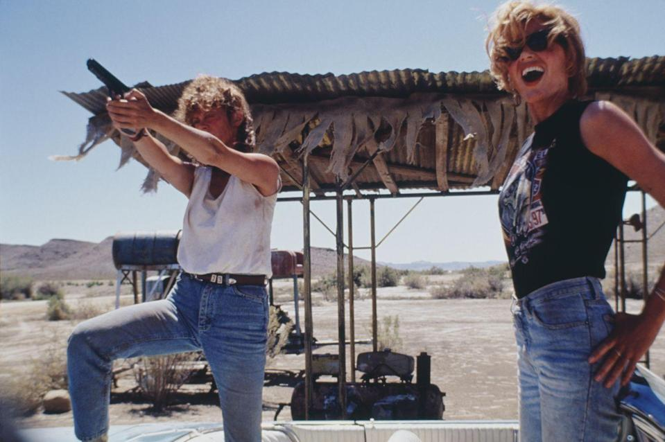 <p><strong><em>Thelma & Louise</em></strong></p><p>Sure, these two awesome best friends were desperate to escape their dreary lives in Arkansas, but this epic road trip movie is really an empowering classic. </p>