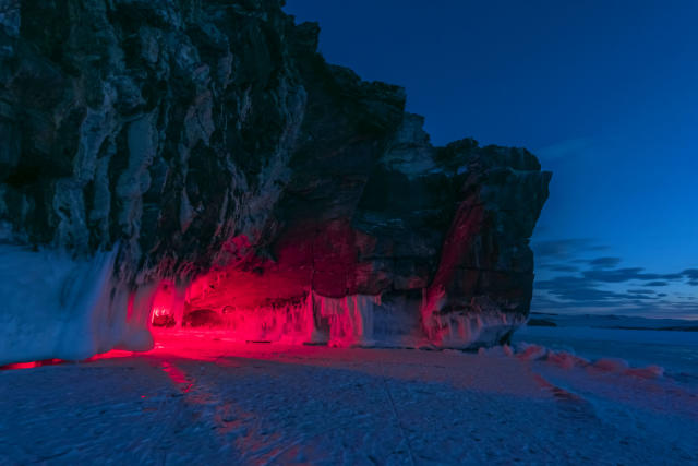 <p>Leading to the formation of these incredible caves, full of icy stalactites. (Caters News) </p>