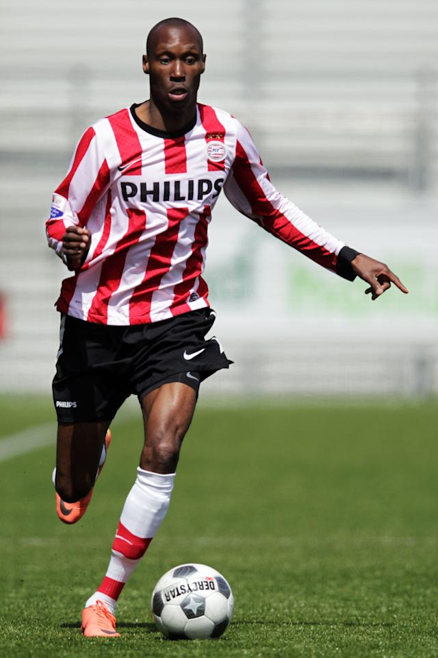 ROTTERDAM, NETHERLANDS - MAY 06:  Atiba Hutchinson of PSV in action during the Eredivisie match between SC Excelsior Rotterdam and PSV Eindhoven at Woudestein Stadium on May 6, 2012 in Rotterdam, Netherlands.  (Photo by Dean Mouhtaropoulos/Getty Images)
