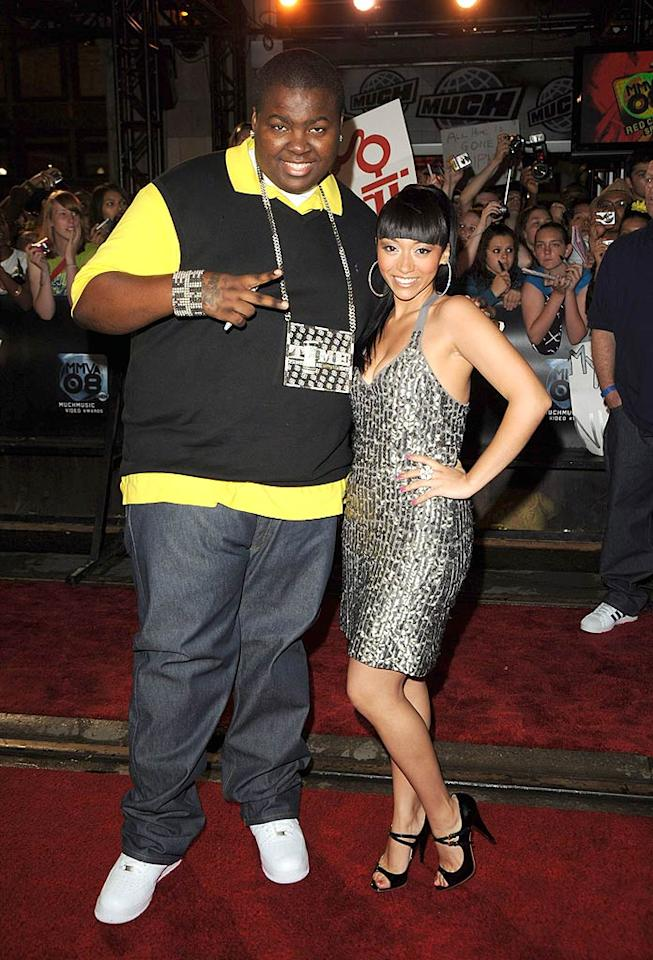 """Rapper Sean Kingston and his lovely lady friend bring the bling! George Pimentel/<a href=""""http://www.wireimage.com"""" target=""""new"""">WireImage.com</a> - June 15, 2008"""