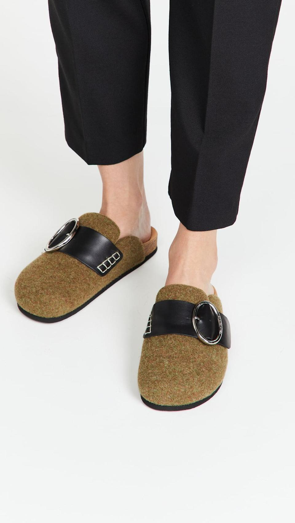 <p>You'll want to lounge at home in these <span>JW Anderson Felt Loafers</span> ($425), but if your friends so text you for last-minute plans, they make a totally acceptable wear-everywhere pair.</p>