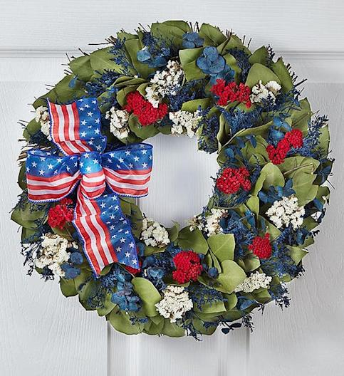 1800Flowers Red, White and Beautiful Wreath