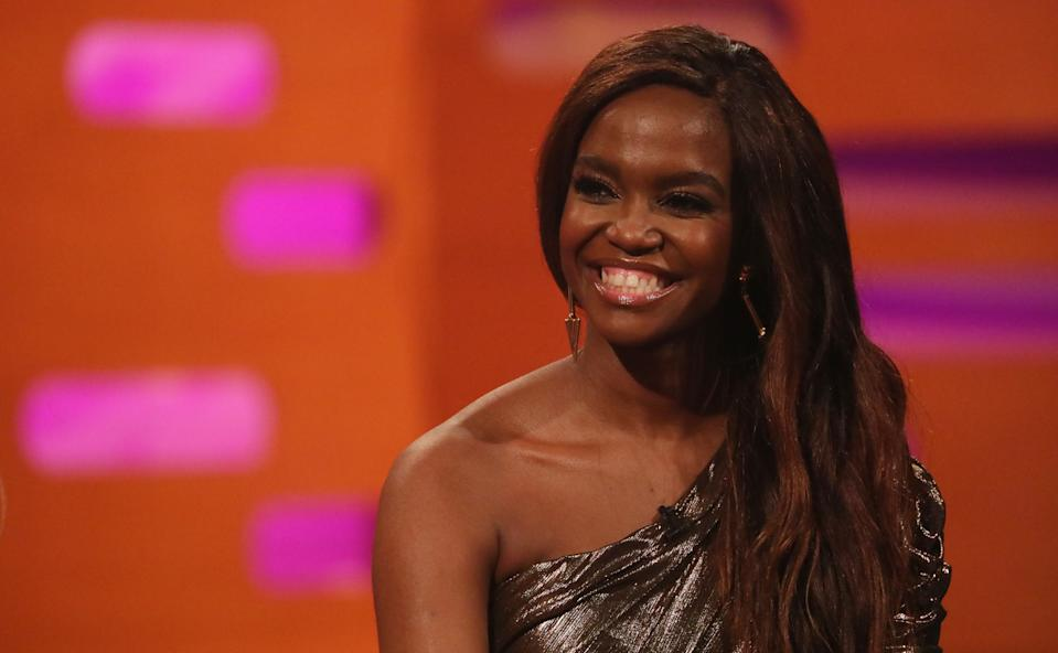 Oti Mabuse during the filming for the Graham Norton Show at BBC Studioworks 6 Television Centre, Wood Lane, London, to be aired on BBC One on Friday evening. (Photo by Isabel Infantes/PA Images via Getty Images)