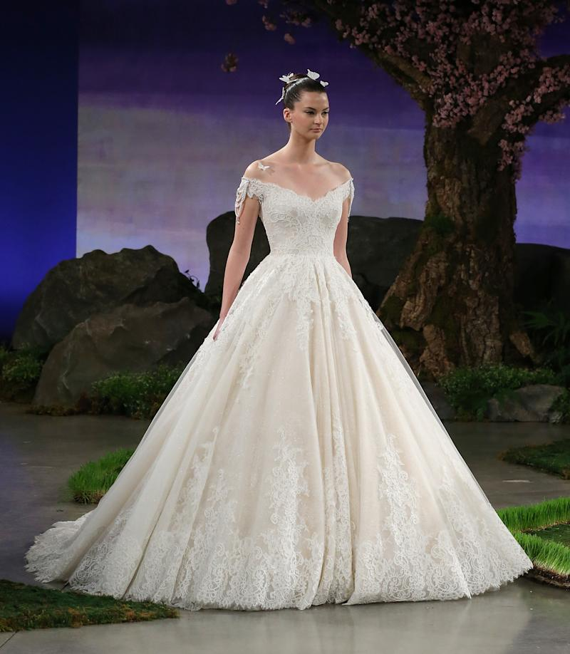 Ines di Santo's Primrose gown on its spring 2016 runway during Bridal Fashion Week
