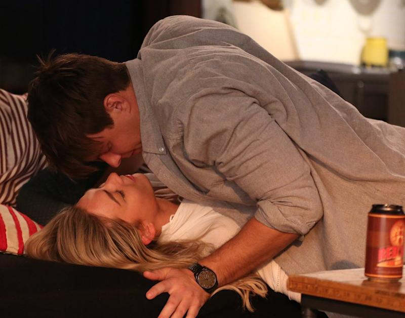 Sam Frost and Tim Franklin on Home and Away
