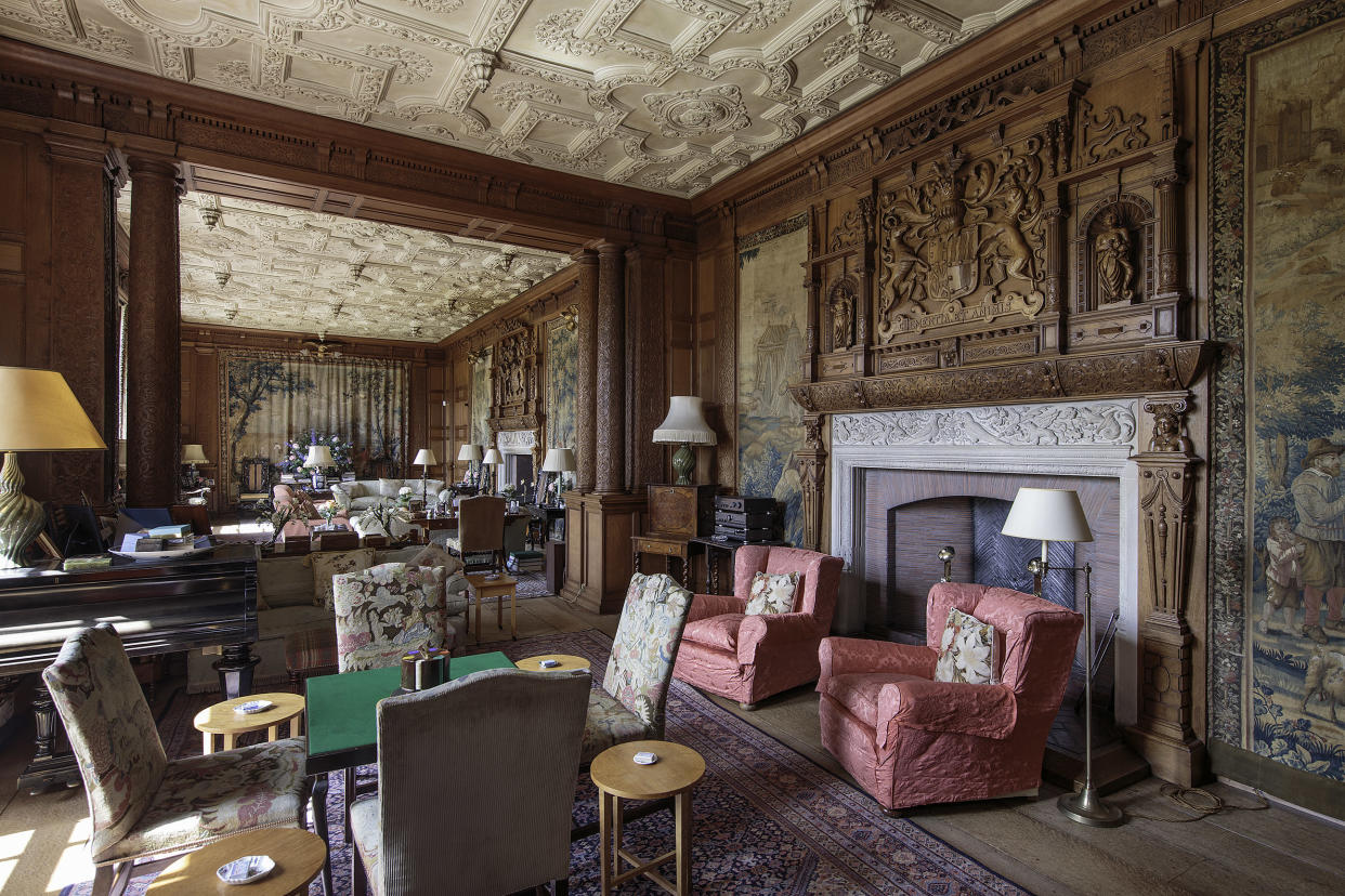 You could be kicking back in the ornate interiors of Brechin castle of an evening (Image: Savills)