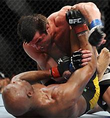 Anderson Silva (bottom) pulled a stunner when he came back to beat Chael Sonnen at UFC 117 on Aug. 7