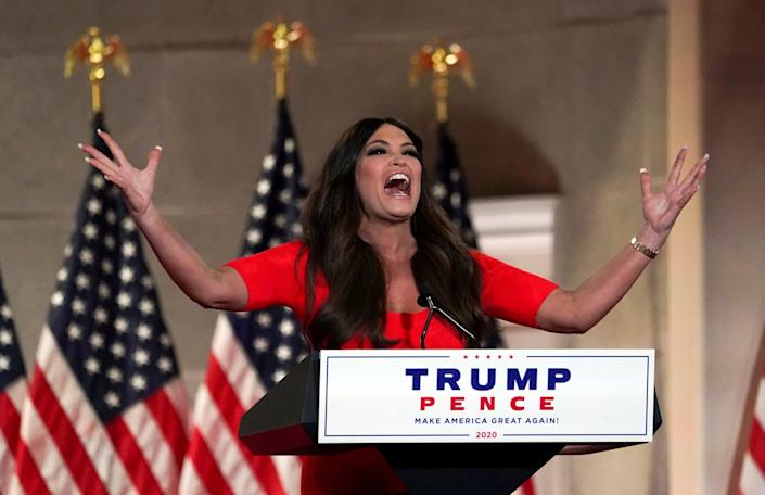 Kimberly Guilfoyle speaks at the Republican National Convention on 24 August, 2020: REUTERS
