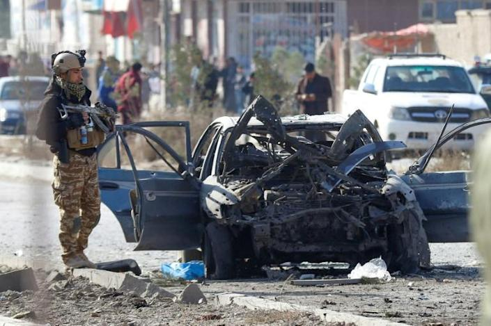 Interior Minister Massoud Andarabi said that one of those killed was a 13-year-old child heading to school (AFP Photo/STR)