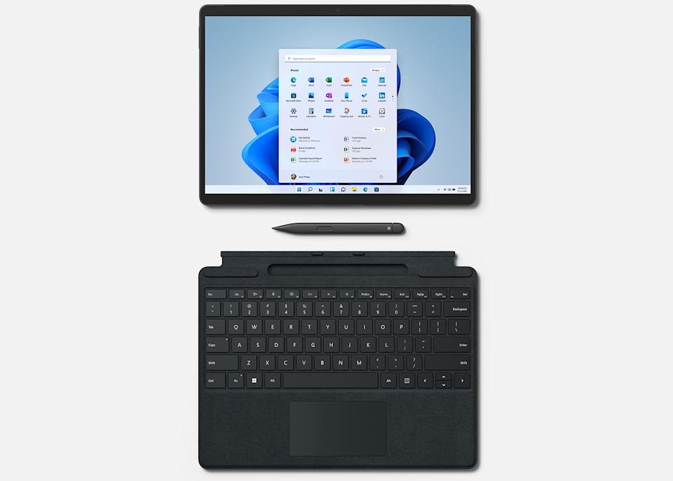 Although it starts at $ 1,099, the Surface Pro 8 doesn't include a keyboard.  It will still cost you $ 179.  (Image: Microsoft)