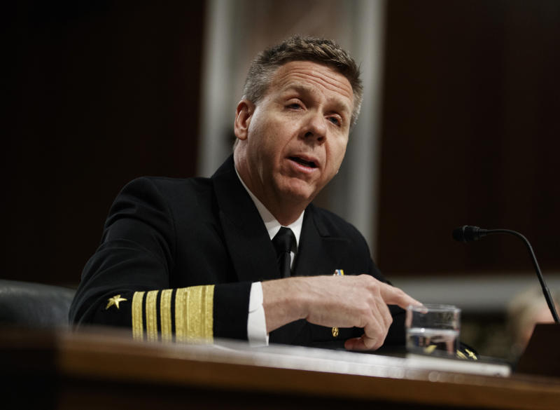 File Photo: Navy Adm. Philip Davidson testifies during a Senate Armed Services Committee hearing on Capitol Hill in Washington, Tuesday, April 17, 2018. (AP Photo/Carolyn Kaster)