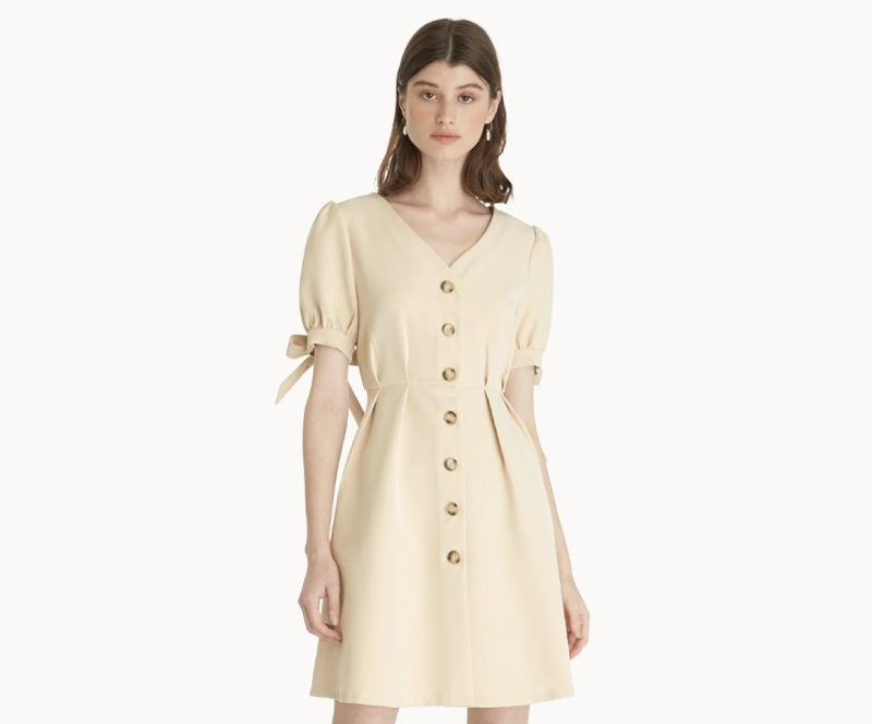 Bow Sleeve Button Up Dress. (PHOTO: Pomelo)