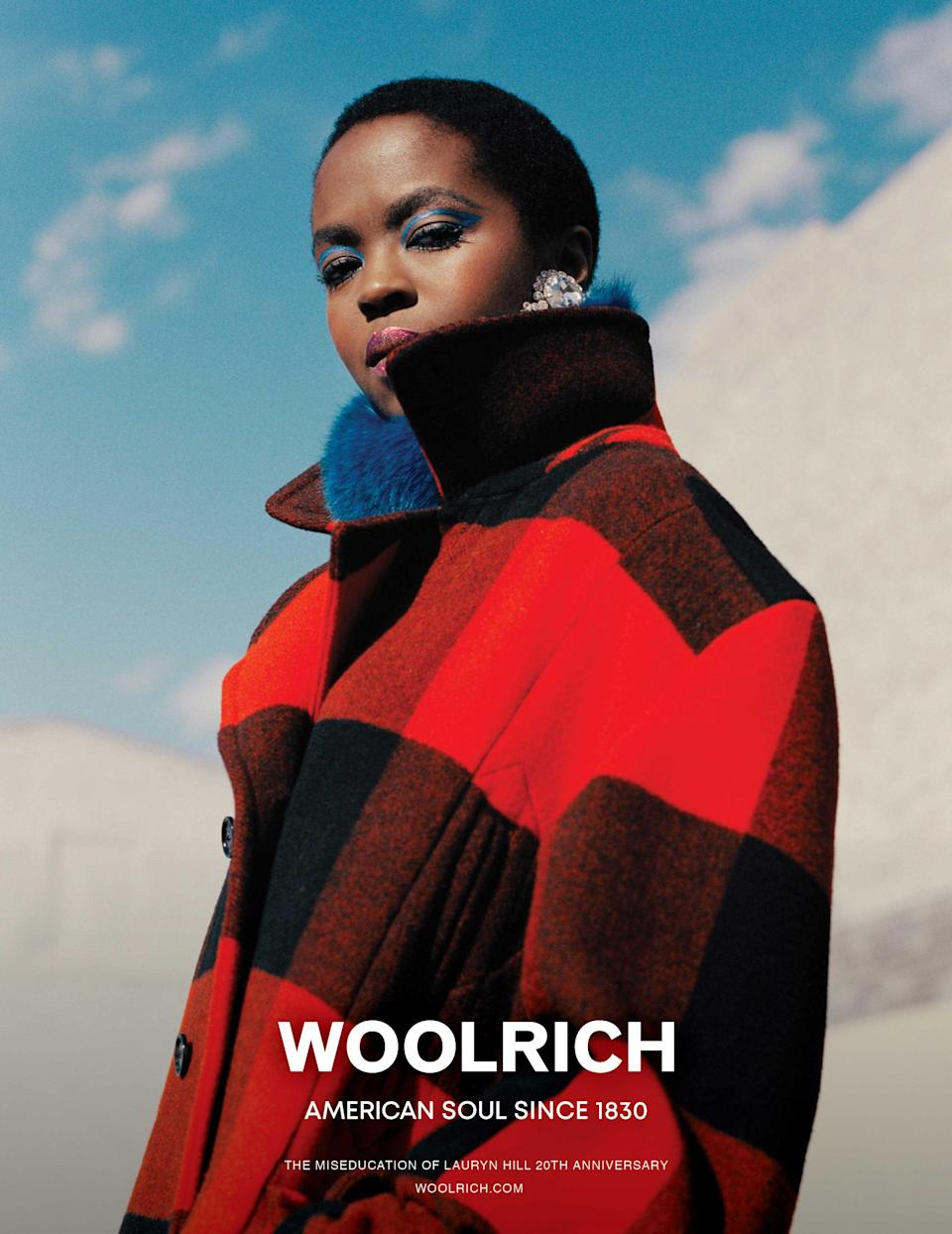 <p><strong>Model:</strong> Ms. Lauryn Hill<br><strong>Photographer:</strong> Jack Davison<br>(Photo: Courtesy of Woolrich) </p>