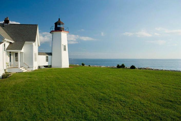 """This former U.S. Coast Guard Lighthouse in <a href=""""https://www.architecturaldigest.com/story/kate-schelter-cape-cod-saltbox?mbid=synd_yahoo_rss"""" rel=""""nofollow noopener"""" target=""""_blank"""" data-ylk=""""slk:Cape Cod"""" class=""""link rapid-noclick-resp"""">Cape Cod</a>, Massachusetts, is way more New England coastal vibes than military barracks in every possible way. The hosts claim that the lantern room provides """"one of the most fabulous views of the Atlantic Ocean ever experienced""""—which is quite the endorsement, if you ask us. You can share all the charms of this historic home, which can accommodate up to eight guests, with your loved ones. $258, Airbnb. <a href=""""https://www.airbnb.com/rooms/23678363"""" rel=""""nofollow noopener"""" target=""""_blank"""" data-ylk=""""slk:Get it now!"""" class=""""link rapid-noclick-resp"""">Get it now!</a>"""
