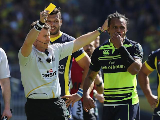 Isa Nacewa was shown a yellow card during the initial 15-minute blitz (Getty)