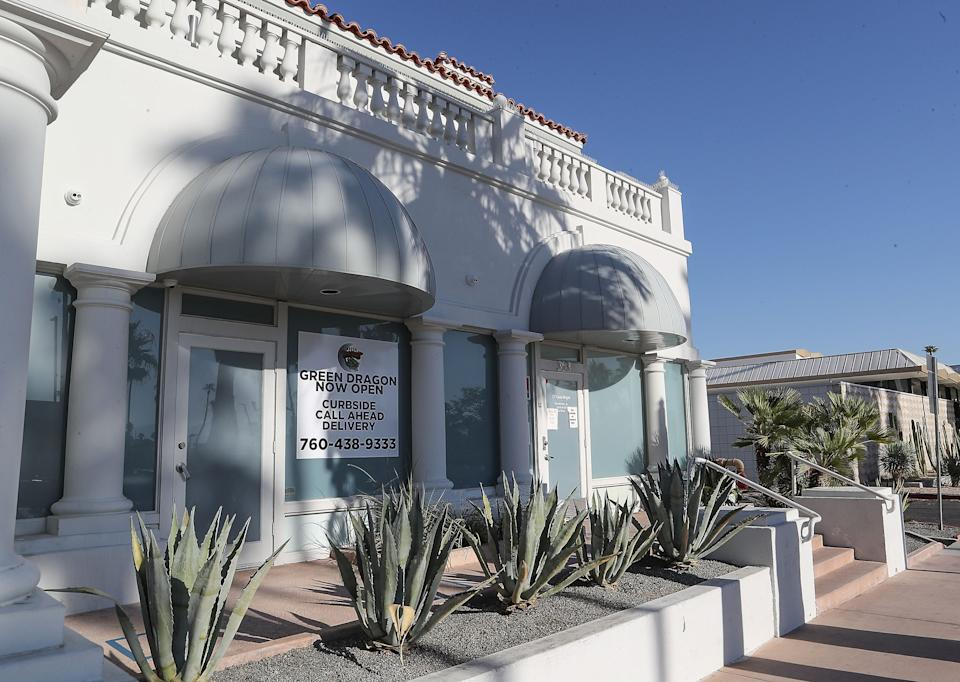 The Green Dragon cannabis dispensary and lounge in downtown Palm Springs, July 21, 2020.