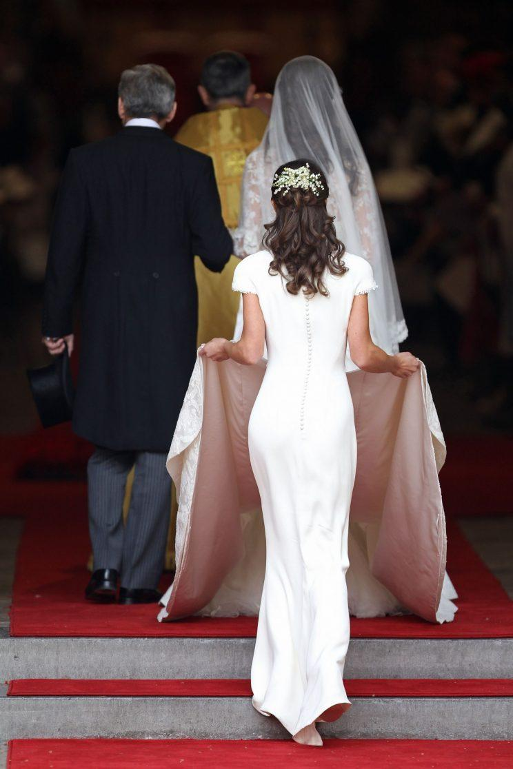 The time Pippa Middleton almost upstaged her sister at her own wedding [Photo: Getty]