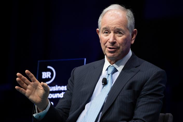 Blackstone CEO Steve Schwarzman speaks during the Business Roundtable CEO Innovation Summit in Washington, DC on December 6, 2018. (Photo by Jim WATSON / AFP) (Photo credit should read JIM WATSON/AFP/Getty Images)