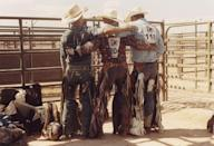 """<p>The American West conjures images of mountains and mesas, of pinks and reds, of dust and smoke; of land-as-majesty, unfurling as far as the eye can see under an impossibly vast blue sky. In this setting sits the cowboy, the West personified. And in <a href=""""https://www.lukegilford.com/"""" rel=""""nofollow noopener"""" target=""""_blank"""" data-ylk=""""slk:photographer and filmmaker Luke Gilford"""" class=""""link rapid-noclick-resp"""">photographer and filmmaker Luke Gilford</a>'s essential <a href=""""https://www.amazon.com/Luke-Gilford-National-Anthem-Americas/dp/8862087365"""" rel=""""nofollow noopener"""" target=""""_blank"""" data-ylk=""""slk:new book of photography, National Anthem"""" class=""""link rapid-noclick-resp"""">new book of photography, <em>National Anthem</em></a>, a new, queer life is breathed into this American myth through images revealing the brawn, beauty, grit, and grace of the Gay Rodeo. </p><p>Gilford stumbled upon the International Gay Rodeo Association (IGRA) at a Pride event in San Francisco. As he walked among the various booths, he heard in the distance """"the very specific cadence and oscillation and range of human emotion in the voice of Dolly Parton."""" Like anyone with taste would, he followed her voice. It led him to the booth of the IGRA, and the connection was instant. As a child growing up in Denver, Gilford attended the rodeo where his father was a champion, and later a judge. Something about this group struck a chord within him. """"We all find our community in some way,"""" he says, """"the very next weekend I was in New Mexico at that year's finals.""""</p><p>The Gay Rodeo, is a truly athletic event, with all that you'd get at a traditional rodeo-riding, racing, roping, and more-but on another level it is a reclamation of spaces that have historically been hostile towards queer people, an act of radical authenticity. Gilford found it """"surreal, to be in a space that was suddenly transformed from a not safe space to a complete safe space."""" On a personal level, he says, it presented an opportu"""