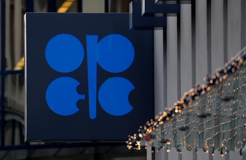 The logo of the Organisation of the Petroleum Exporting Countries (OPEC) sits outside its headquarters ahead of the OPEC and NON-OPEC meeting, Austria December 6, 2019. REUTERS/Leonhard Foeger