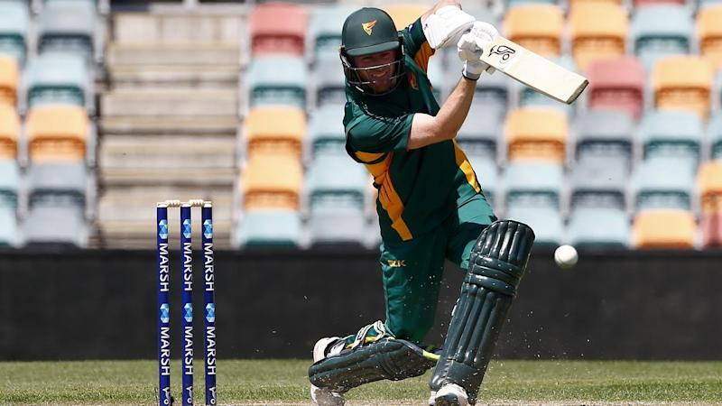 Mac Wright top scored for Tasmania in their one-day cup match against NSW