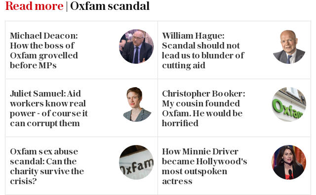 Read more | Oxfam scandal