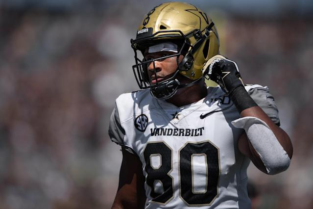 Vanderbilt TE Jared Pinkney would be a nice fit for Matt LaFleur in Green Bay. (Getty Images)