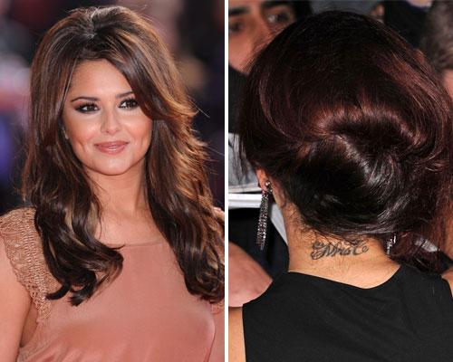 "Happily married in 2007 Cheryl Cole decided to brand herself property of Ashley Cole and tattooed 'Mrs C' on the back of her neck. But after the break down of her marriage last year one does wonder if Cheryl now regrets that permanent sign of love and dedication. Once the divorce was confirmed rumours circulated that Cheryl wanted the etching removed ""as a matter of urgency""."