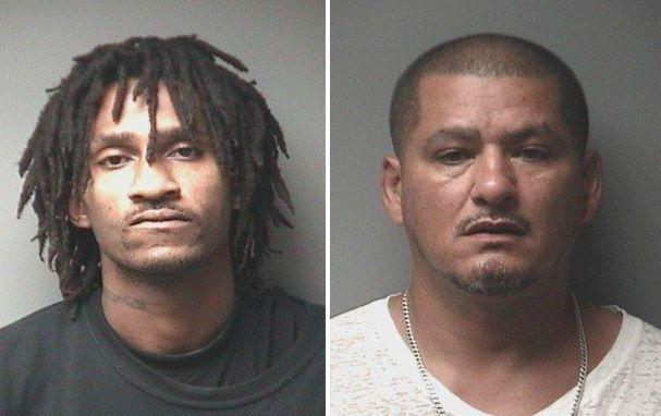 Vernon Barrett Jr.,25, and Dion Santiago, 48, were arrested on Saturday following a neighborhood shooting involving a clown mask, authorities said.